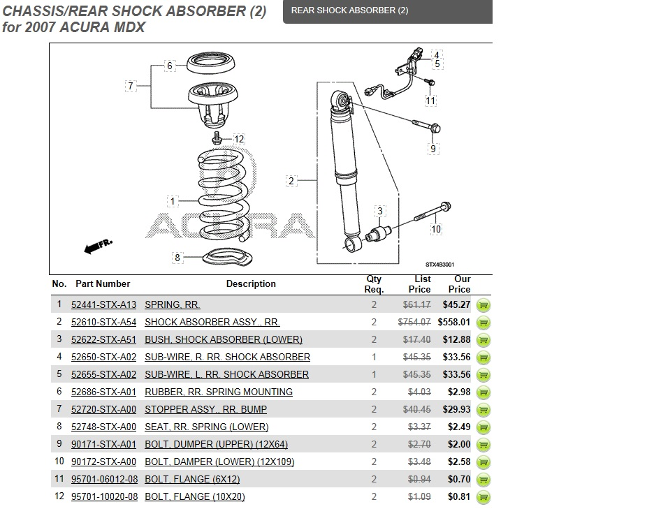 Rear Shocks Active Suspension Sport Acura MDX Forum Acura - 2007 acura mdx sport shocks