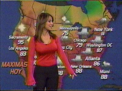 Weather Channel, are nothing compared to Jackie Guerrido of Univision