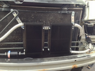 Installing tranny cooler