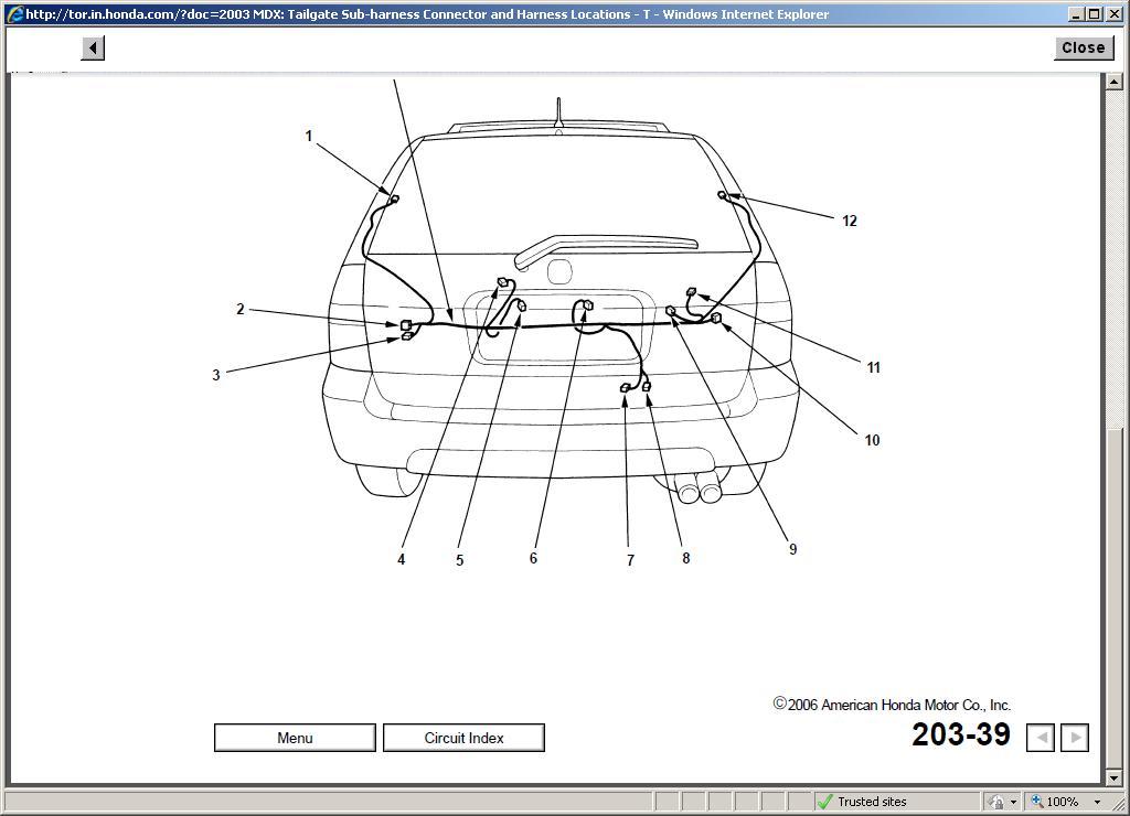 Tailgate Wiring Issue Acura Mdx Forum Suv Forumsrhmdxersorg: Mdx Wiring Diagram At Gmaili.net