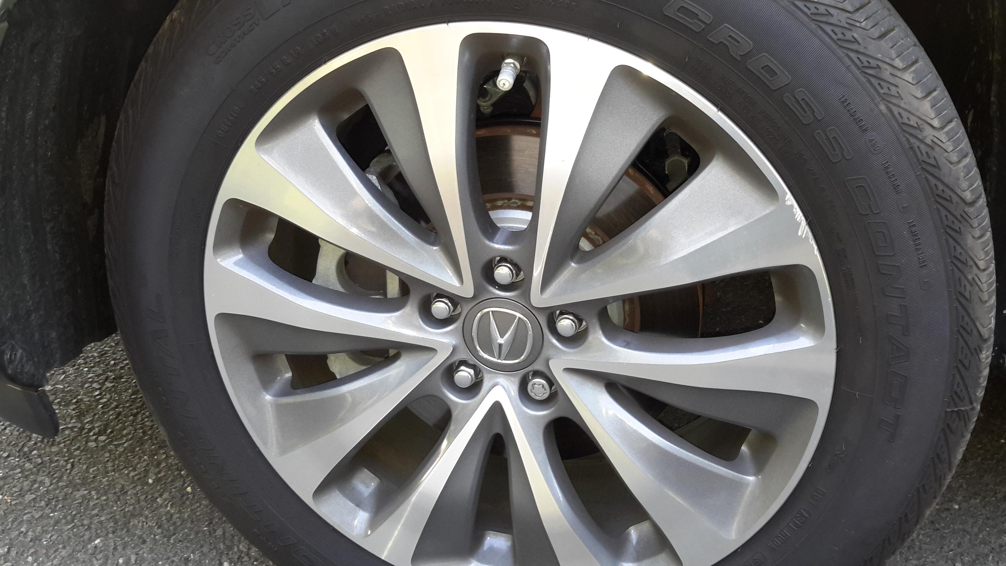 2014 mdx tech deep scratches in rim Acura MDX Forum Acura MDX
