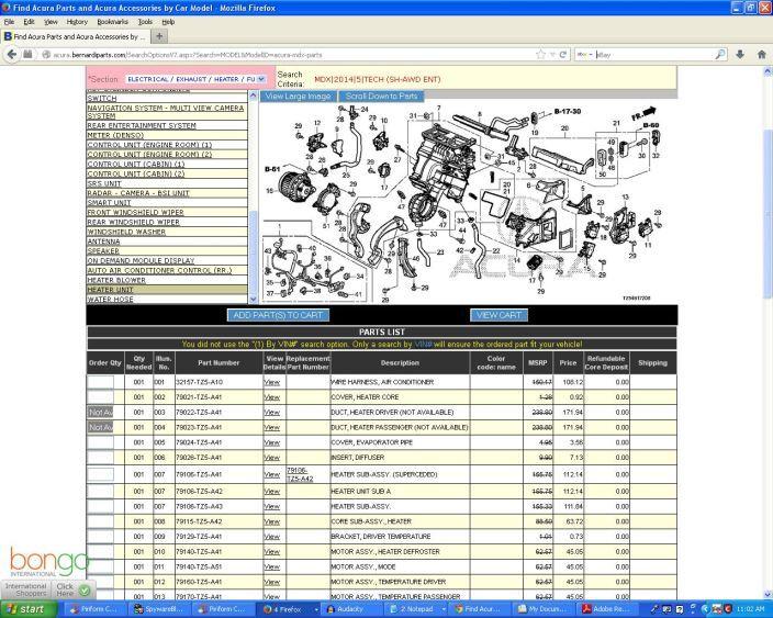 acura mdx evap parts diagram  u2022 wiring diagram for free