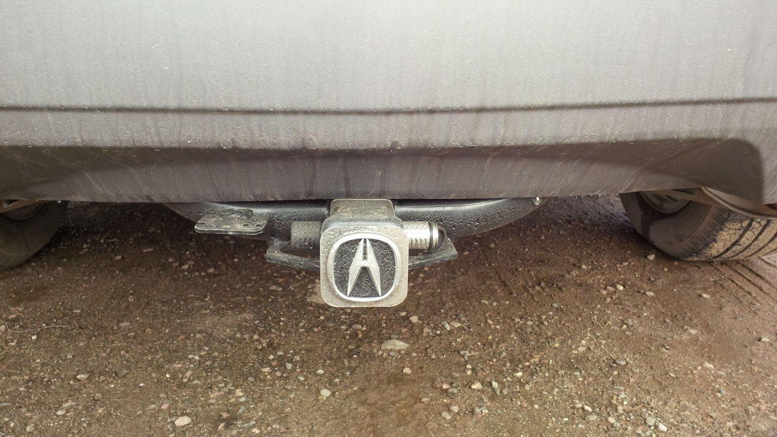2007-2009 Acura OEM MDX hitch without harness-hidden-hitch-2.