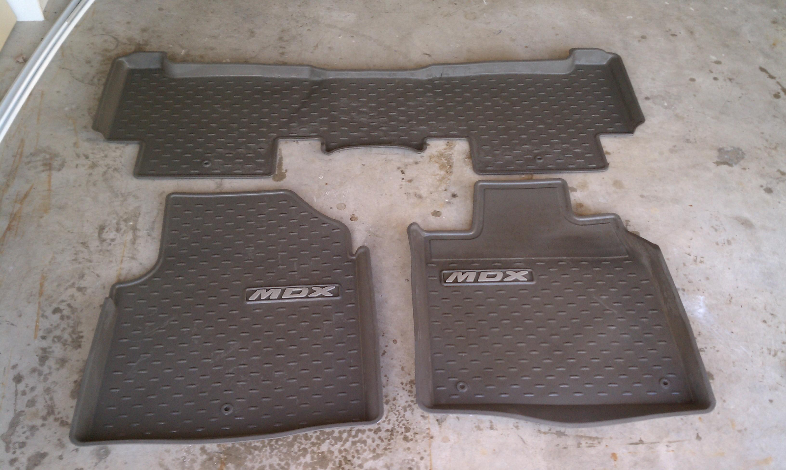 For Sale MDX AllWeather Floor Mats Acura MDX Forum - Acura mdx floor mats