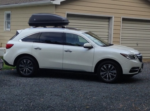 2017 Mdx Roof Rails Cross Bars Cargo Box Image Jpg