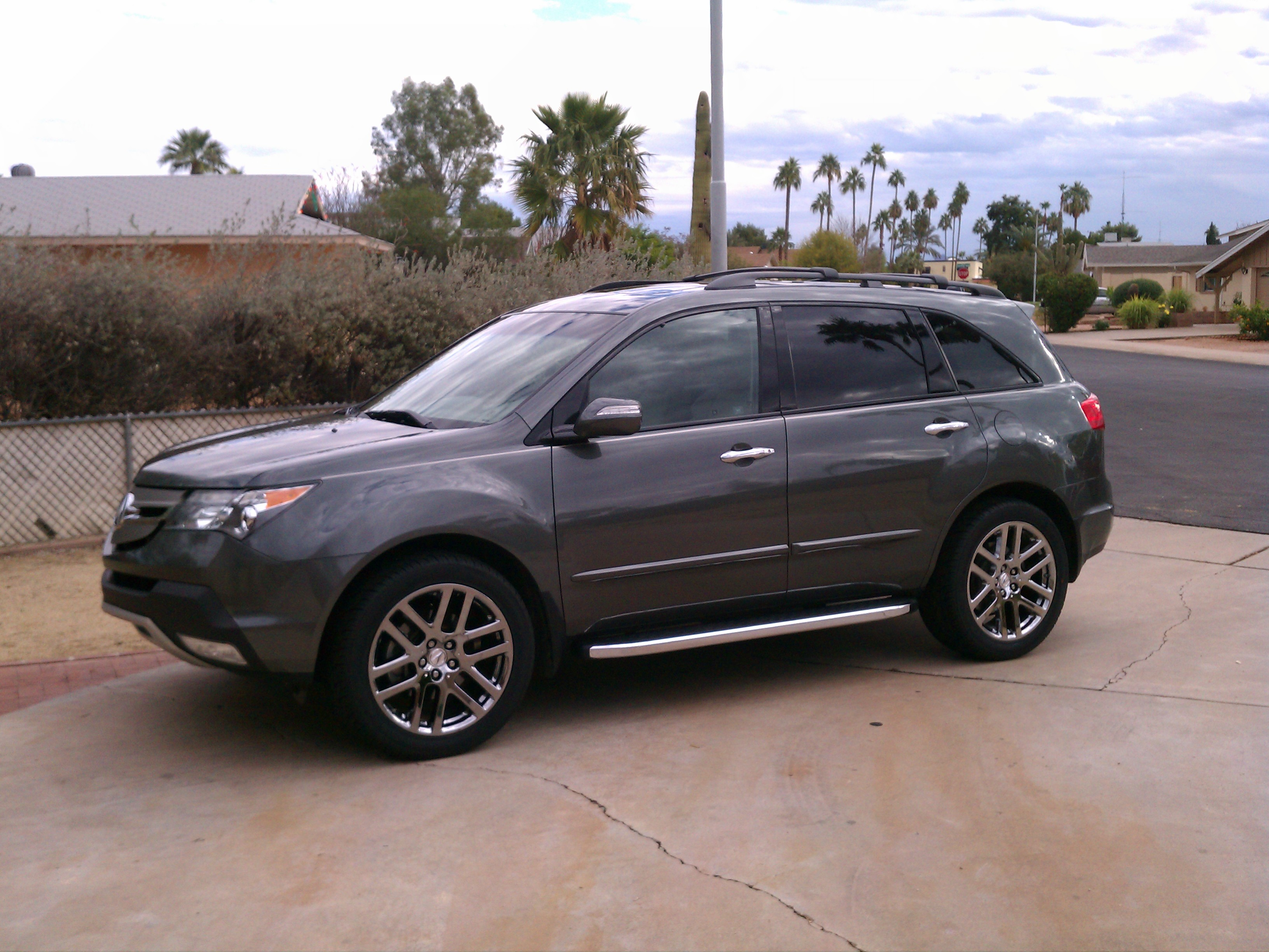 Advanced Running Boards Silver Roof Rails Installed Page - Acura mdx running boards