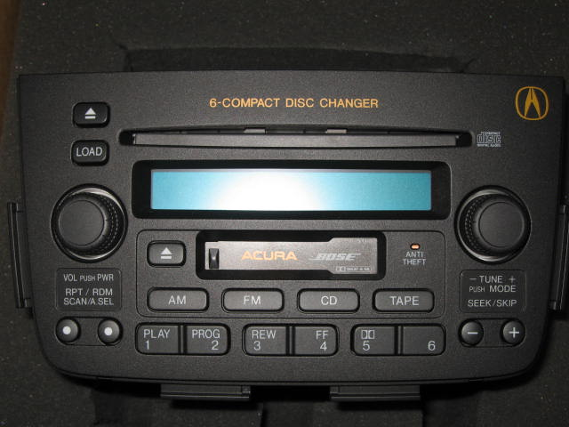 Acura MDX Bose AMFM Cassette Stereo Disc Indash CD Changer - Acura mdx cd player