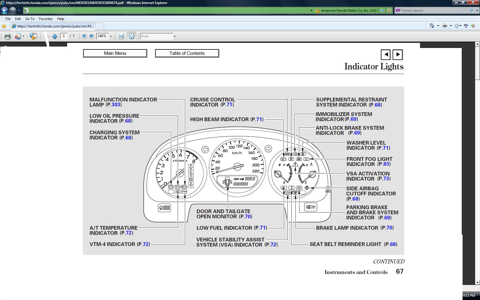 Acura Tsx Dashboard Symbols 2008 Tl Wiring Diagram