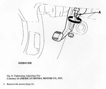 2001 Acura  on How To Tighten Parking Brake    Acura Mdx Forum   Acura Mdx Suv Forums