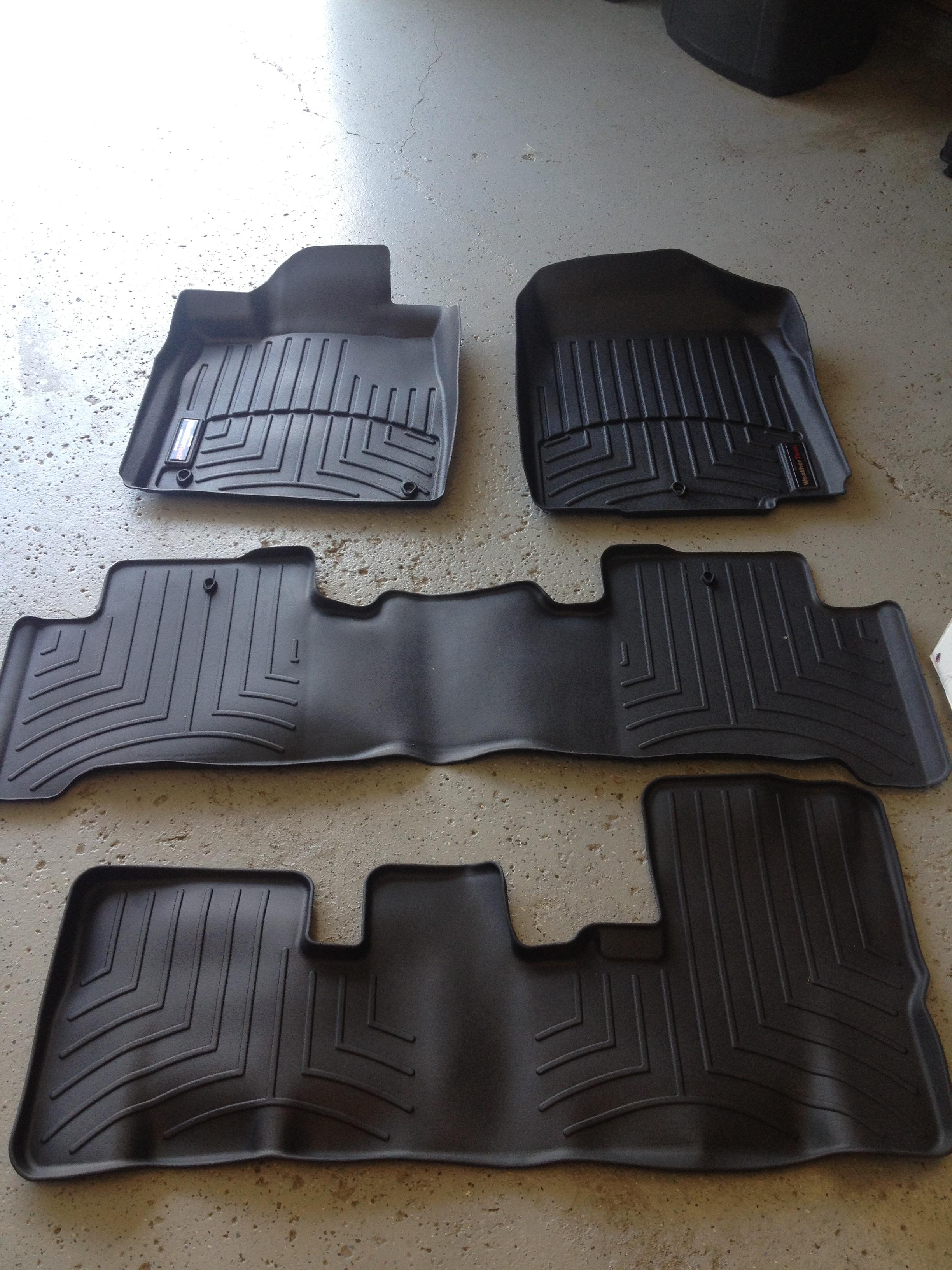 NEW WeatherTech Digital Fit Floor Mats Acura MDX Acura MDX Forum - Acura mdx floor mats
