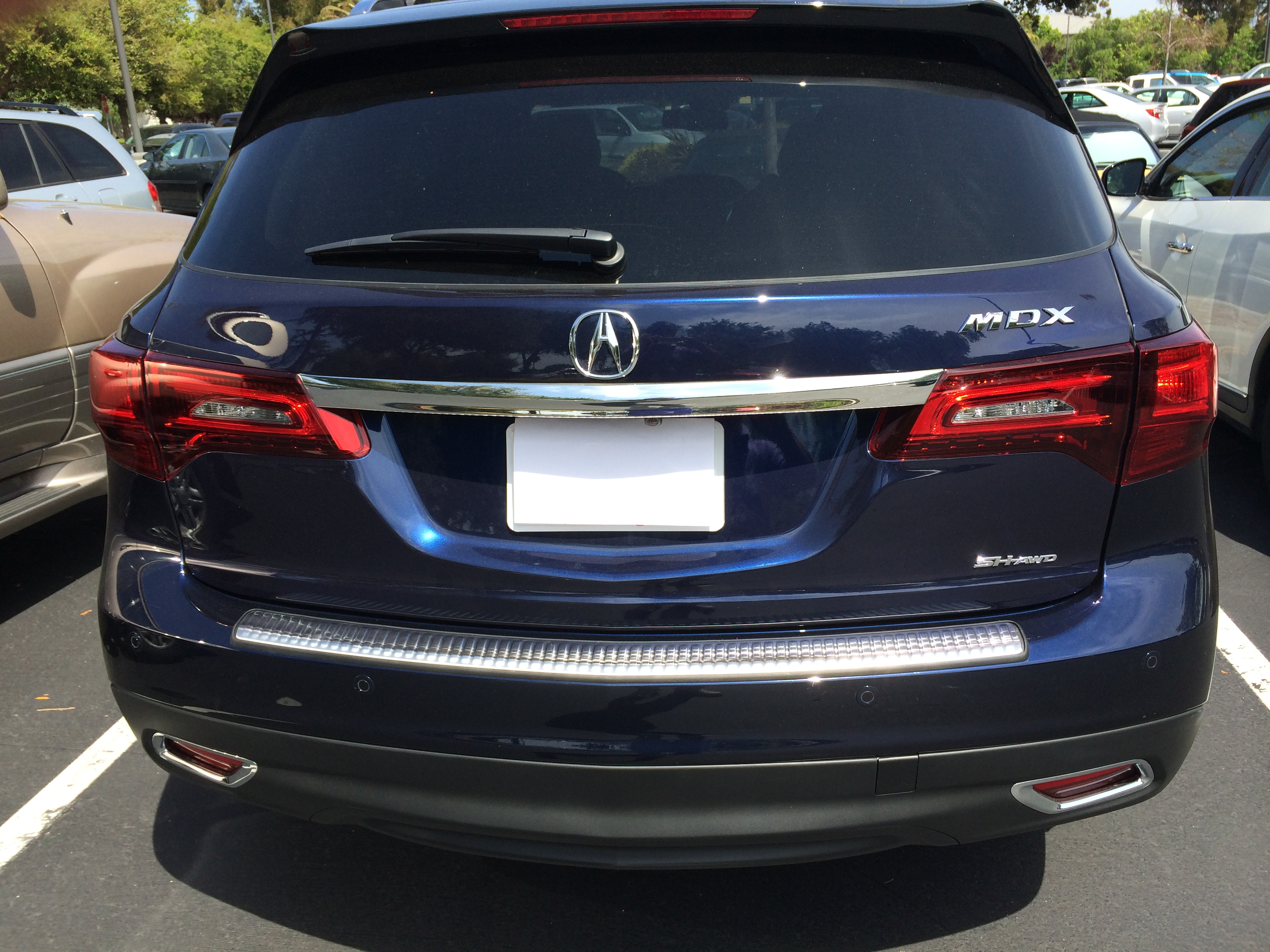 Rear Bumper Protector installed Acura MDX Forum Acura MDX SUV