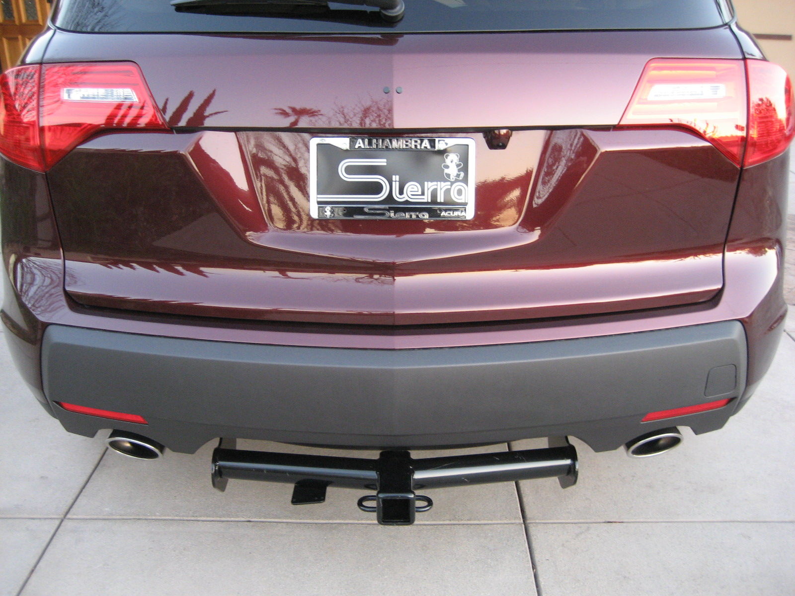 mdx 07 hitch ugly or acura mdx forum acura mdx suv forums