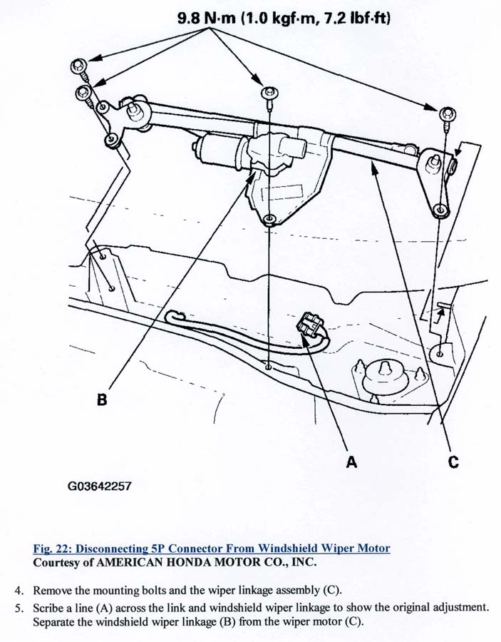 Wiper Motor Replacement Front Acura Mdx Suv Forums