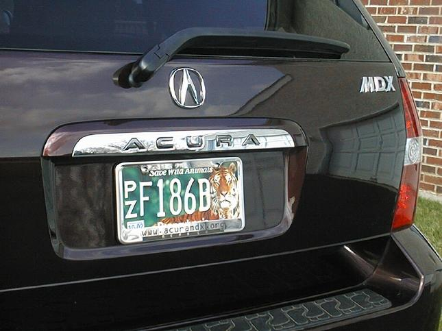 Got My License Plate Frame But Acura MDX Forum Acura MDX SUV - Acura license plate