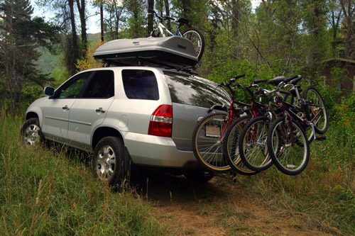 Silver MDX With Thule Roof Rack And Cargo Box Acura MDX Forum - Acura mdx roof cargo box