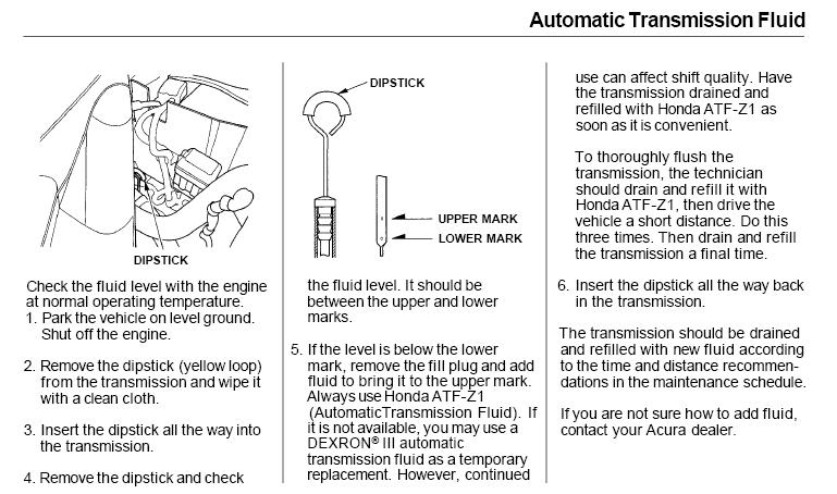 Transmission Fluid Change - Acura MDX Forum : Acura MDX SUV Forums