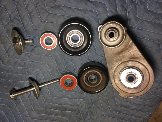 DIY tensioner & AC Clutch pulley bearing replacement   Acura