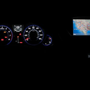 Gauges at night