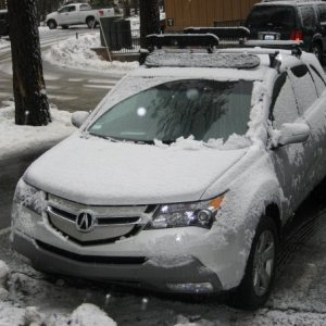 MDX with overnight snow