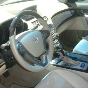 Wood steering wheel and shifter